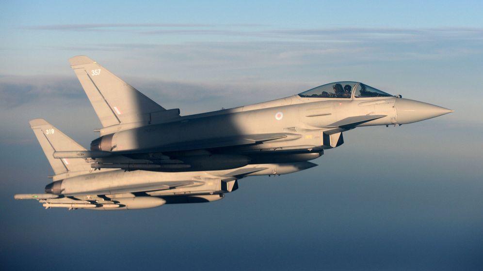 Foto: Eurofighters del ejército británico. (Reuters)