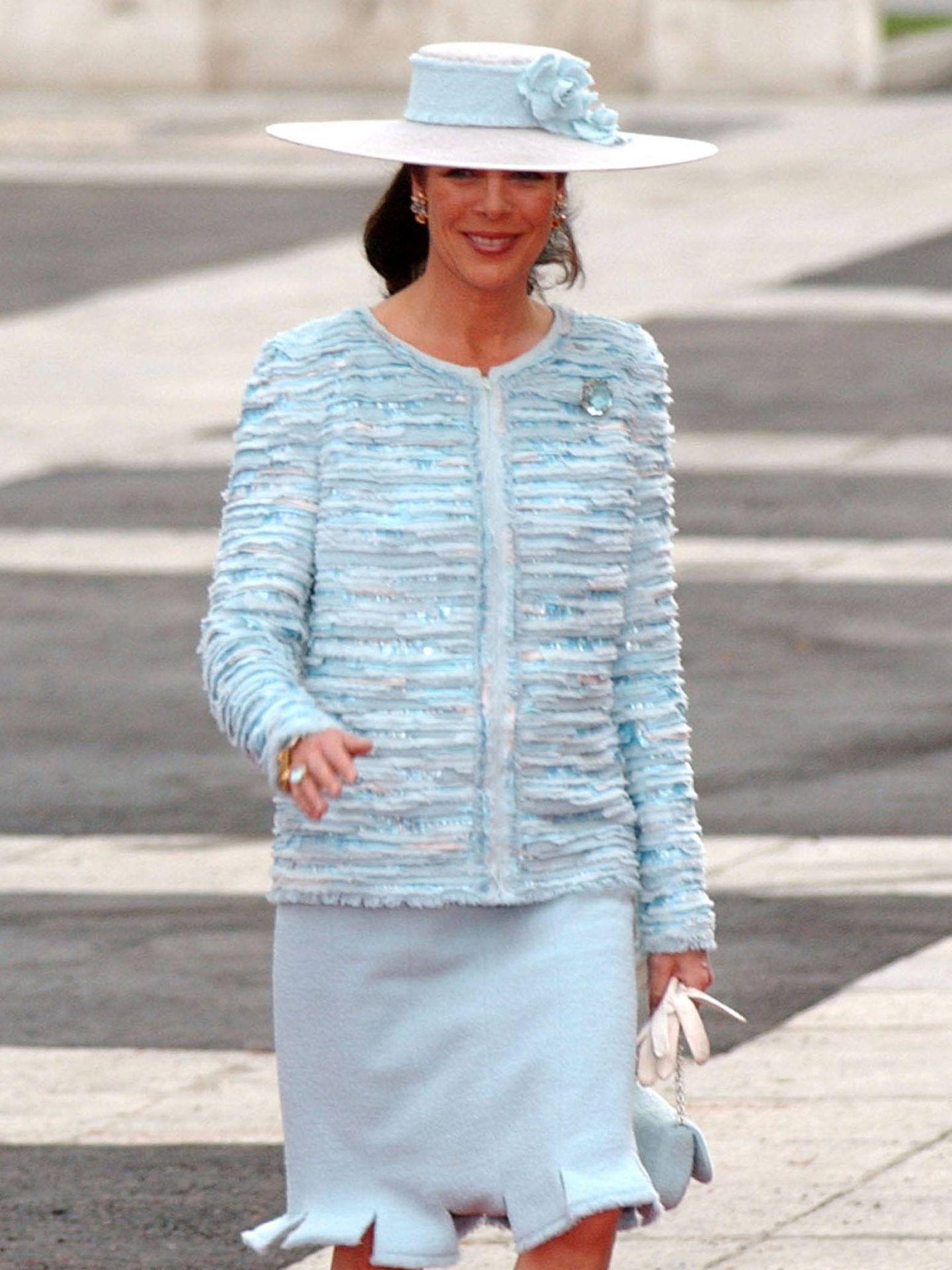Carolina de Mónaco acude en solitario a la boda de los reyes Felipe y Letizia. (Getty)