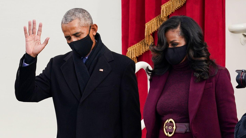 El matrimonio Obama, en el acto. (Reuters)