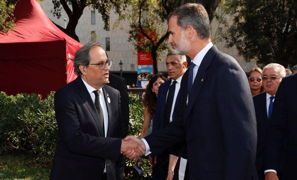 Foto: Quim Torra y el Rey Felipe VI. (EFE)