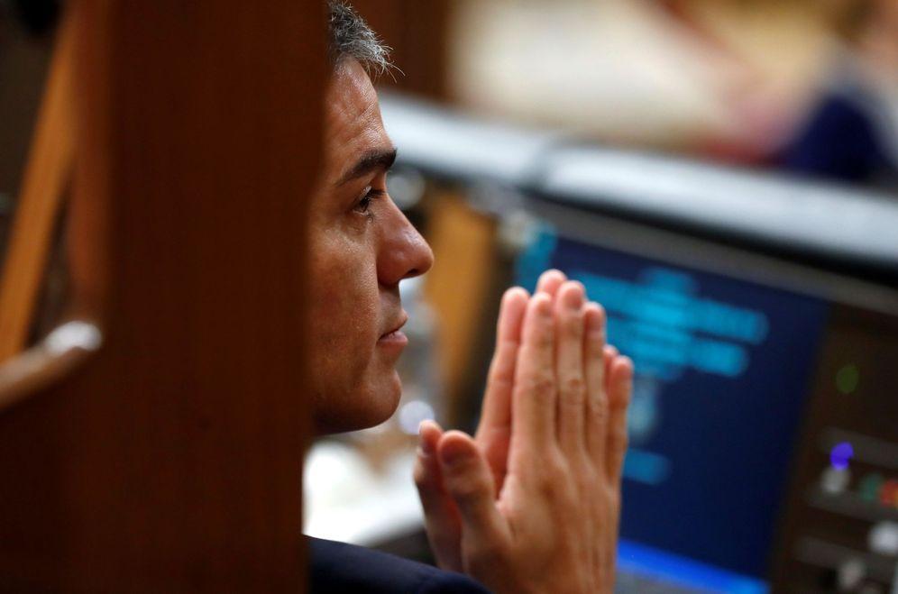 Foto: El presidente del Gobierno, Pedro Sánchez, este 13 de febrero en el Congreso. (EFE)