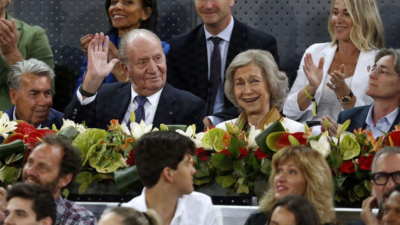 Los Reyes, en el Madrid Open. (EFE)