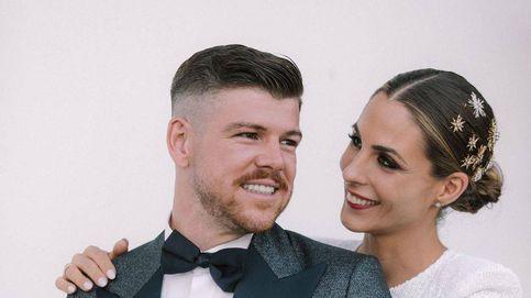 2 vestidos de novia, uno corto y uno largo, en la boda de Lilia Granadilla y Alberto Moreno