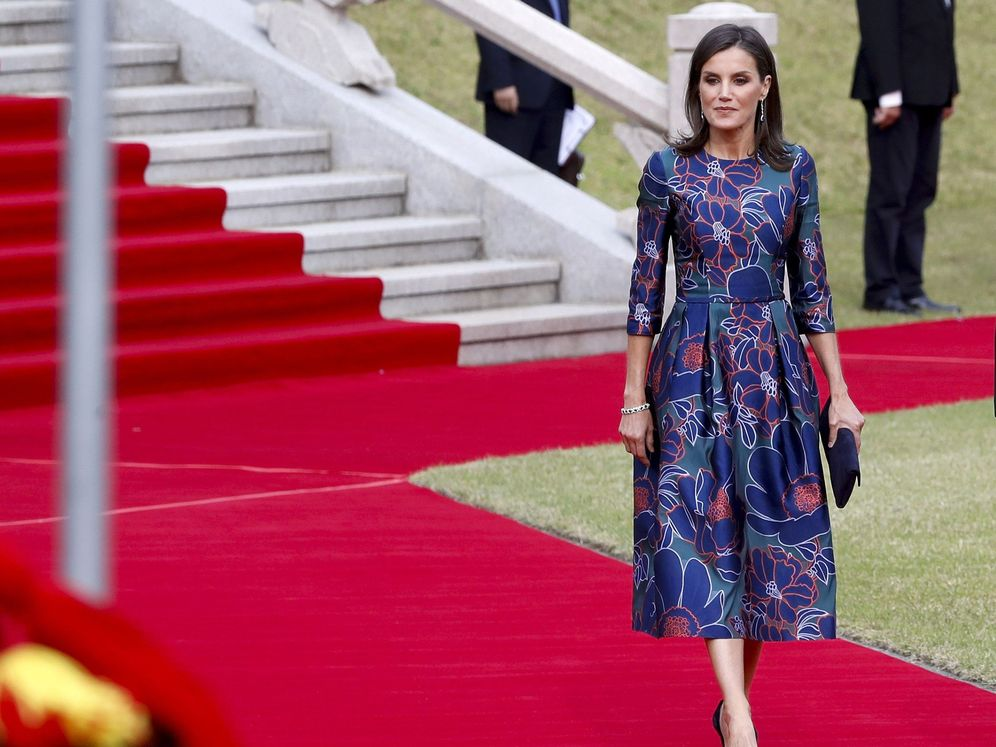 Foto: La reina Letizia en Seúl. (Efe)
