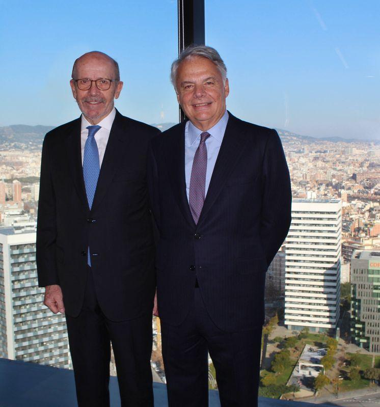 Foto: Eusebio Díaz-Morera, presidente de EDM (izquierda) junto a Ignacio Garralda (presidente de MM)