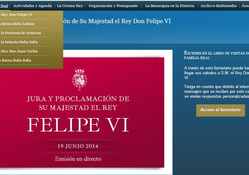Foto: Nueva página web de Casa Real