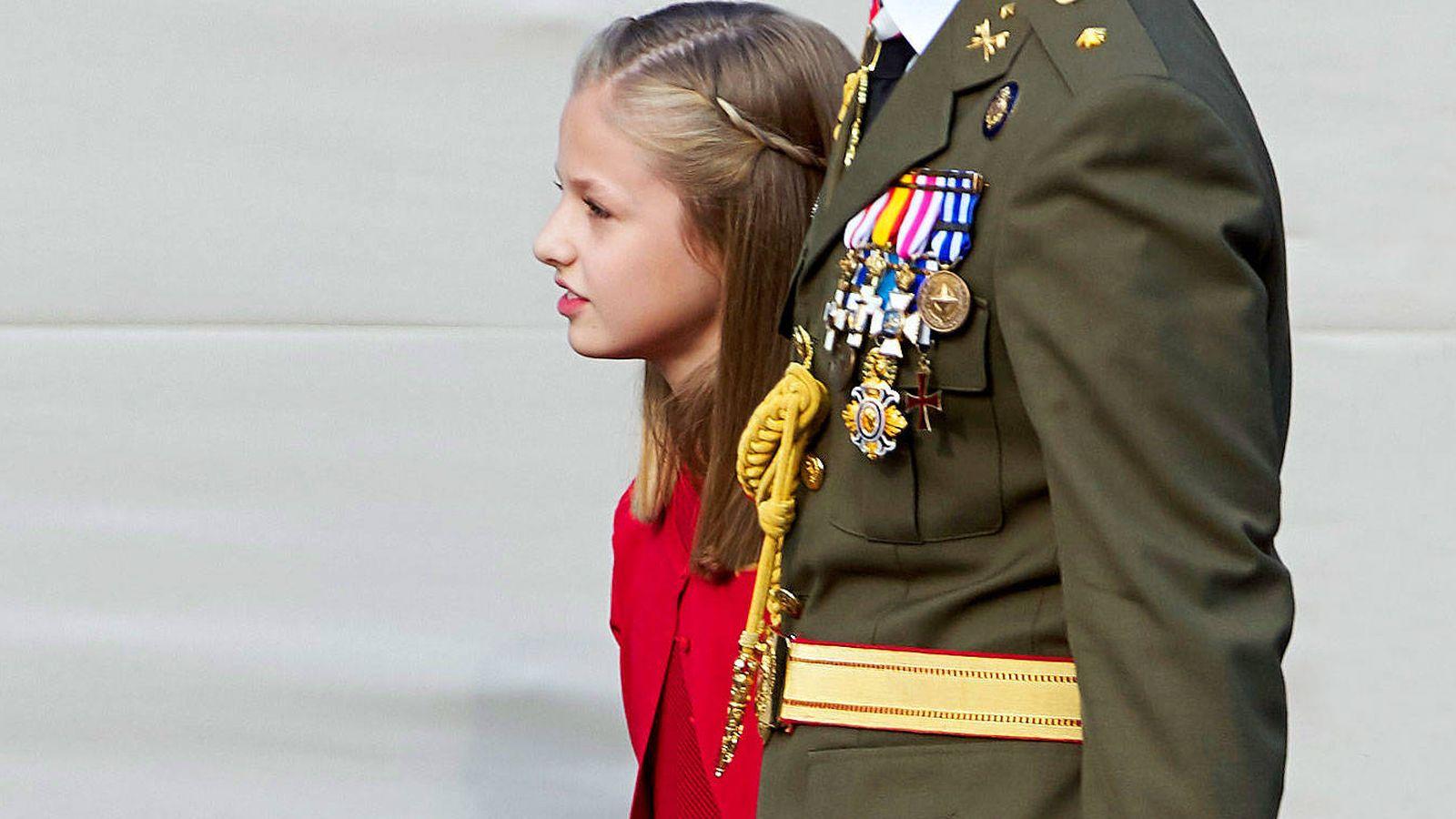 Foto: La princesa Leonor, en el pasado desfile del 12 de octubre. (Getty)