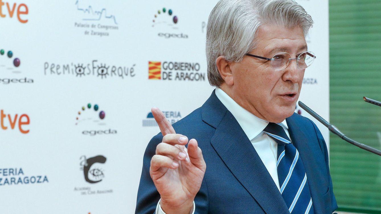 Foto: Enrique Cerezo, presidente de Egeda, durante la presentación de los premios Forqué (Efe)