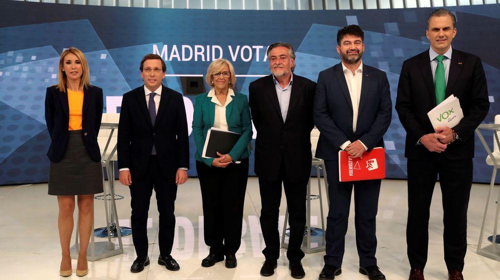 Foto: Debate de candidatos al Ayuntamiento de Madrid en Telemadrid (Efe)