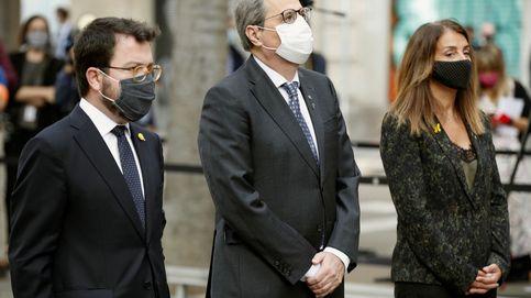 Vías cortadas, poca gente y nacionalistas divididos marcan la 'Diada de la mascarilla'