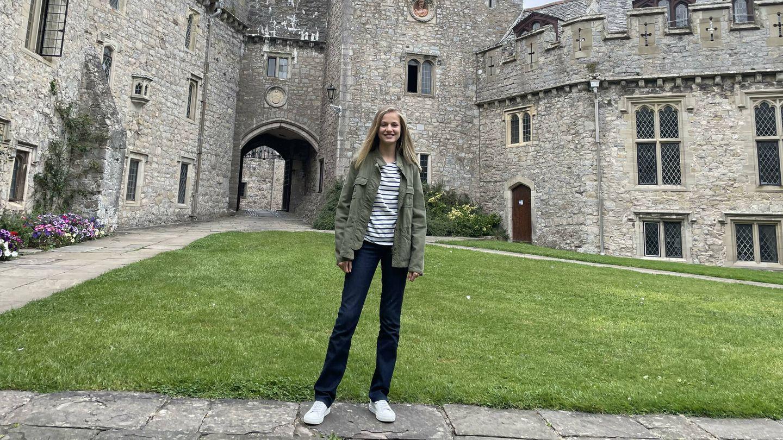 La princesa Leonor, en el UWC Atlantic College. (Casa de S. M. el Rey)