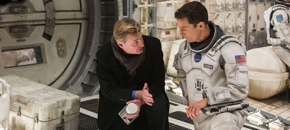Foto: Christopher Nolan y Matthew McConaughey en el rodaje de 'Interstellar' (Warner Bros)
