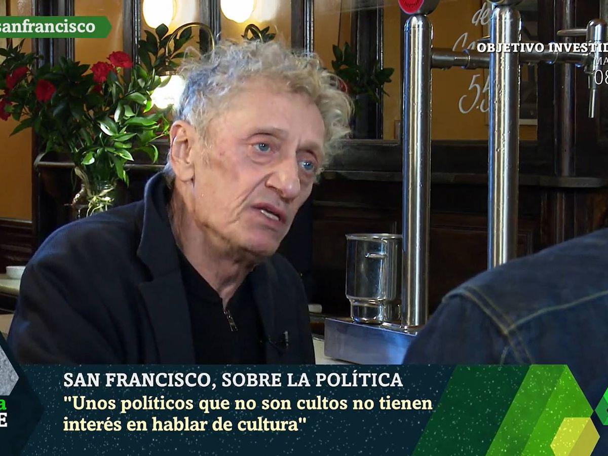 Foto: Enrique San Francisco, en 'La Sexta Noche'. (Telecinco)