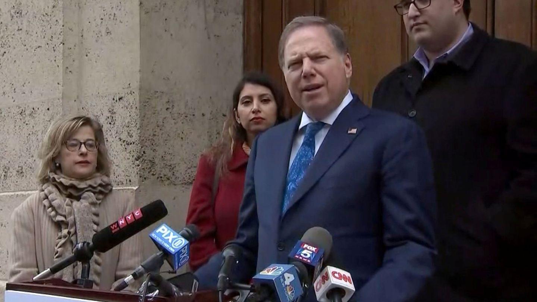 El fiscal de Nueva York, en la conferencia de prensa. (Reuters)