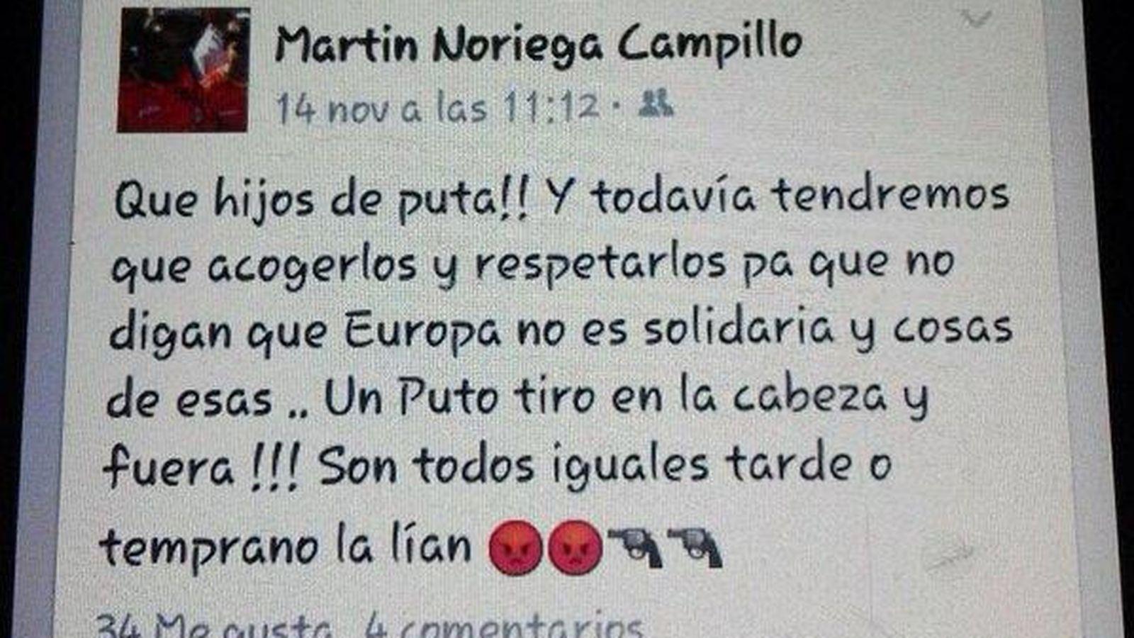 Foto: Captura de pantalla del mensaje publicado en Facebook por Martín Noriega (Twitter/José Sánchez)