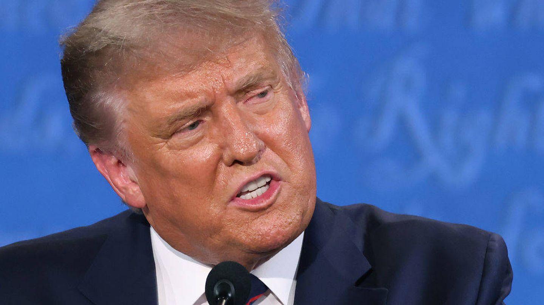 Donald Trump, en el debate electoral. (Getty)