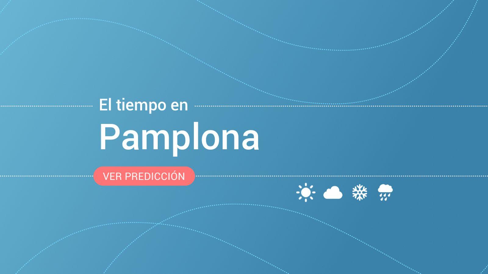 Foto: El tiempo en Pamplona. (EC)