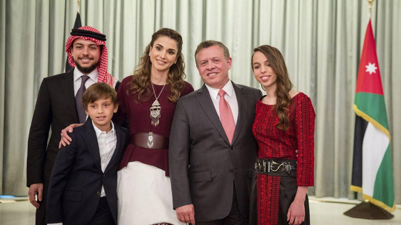 Foto: Rania posa junto a su familia
