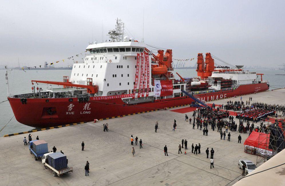 Foto: El rompehielos chino Xuelong en el puerto de Tianjin, China. (Reuters)