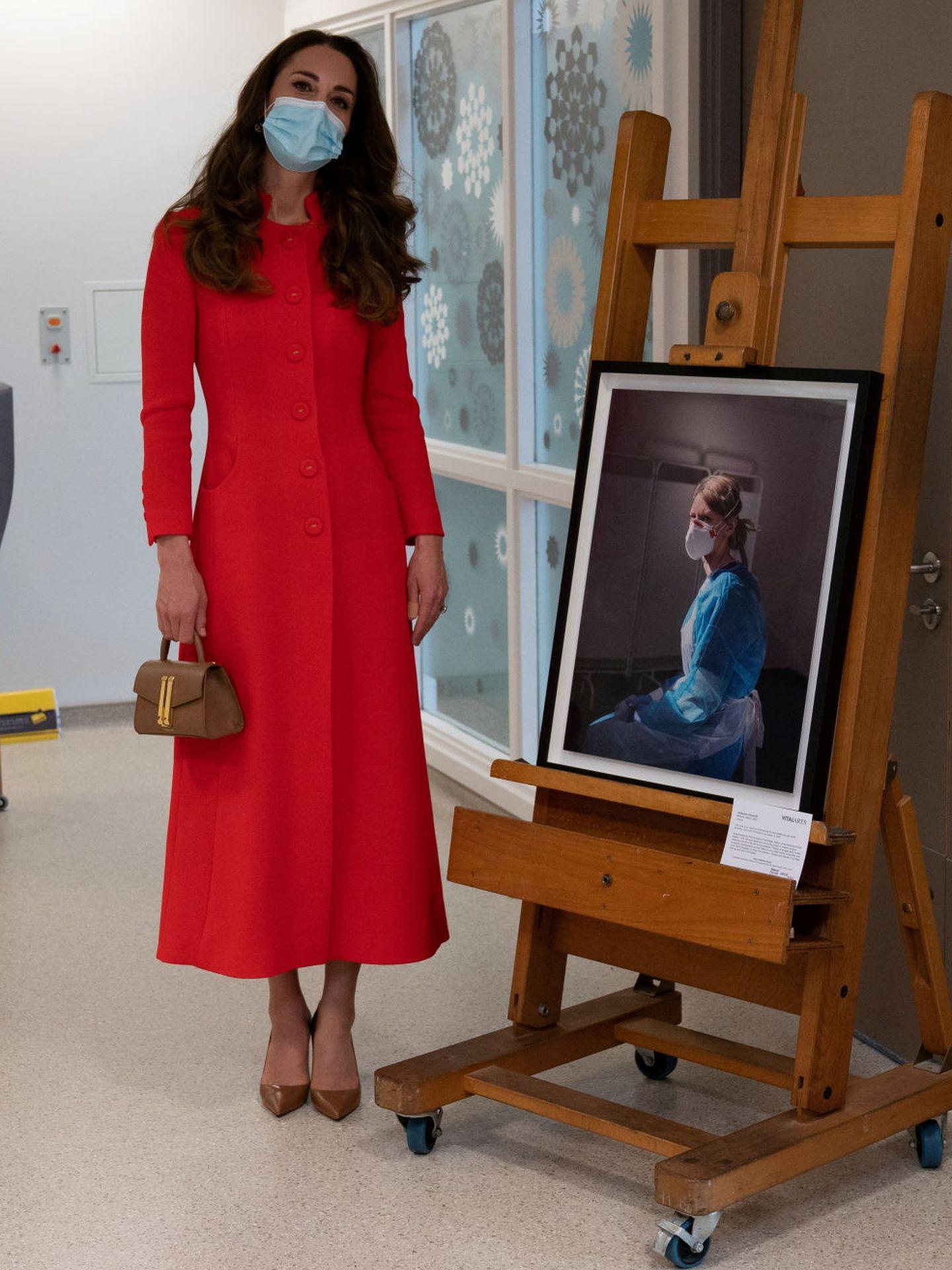 Kate, con su abrigo de Eponine London. (Reuters)