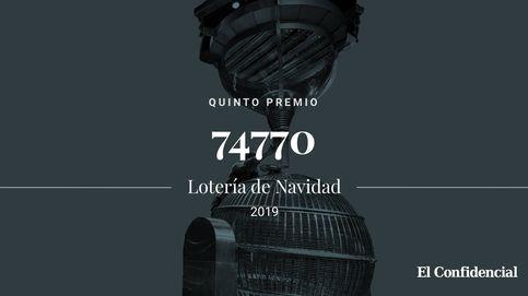 ¡Quinto quinto! El 74770 deja en la Lotería de Navidad 6.000 euros por décimo jugado