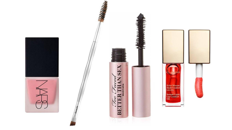 Cosméticos para dar color a un maquillaje natural.