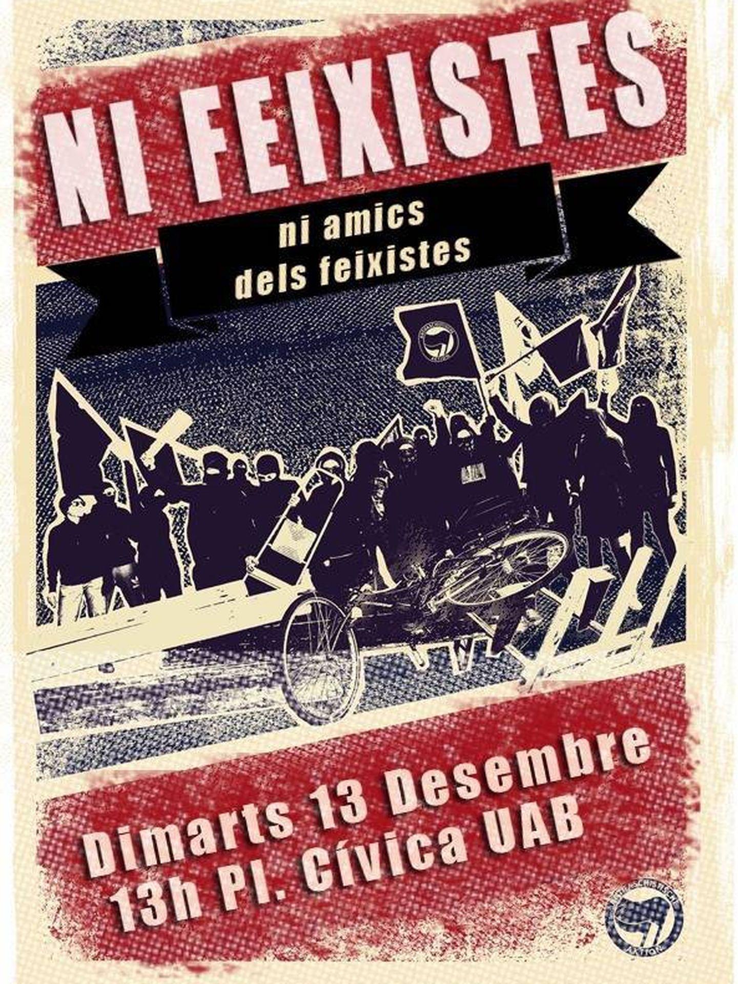 Carteles de la Plataforma Antifascista contra SCC.
