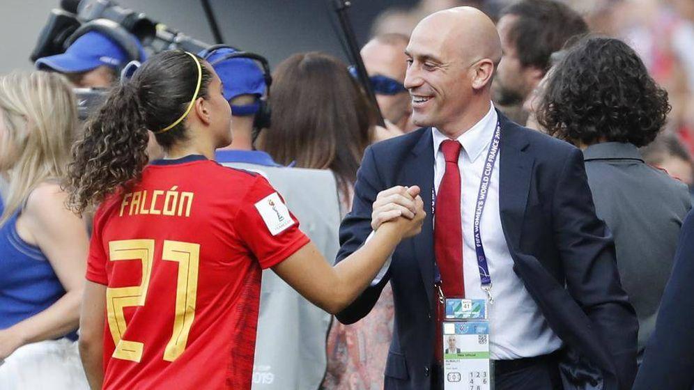 Foto: El presidente de la RFEF, Luis Rubiales, en el reciente Mundial de Francia de fútbol femenino. (EFE)