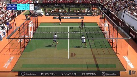 El puntazo del Lobo Juan Lebrón que hace estallar las gradas del abarrotado Bastad Tennis Stadium