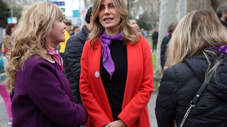 Begoña Gómez, en la manifestación por el Día de la Mujer. (EFE)