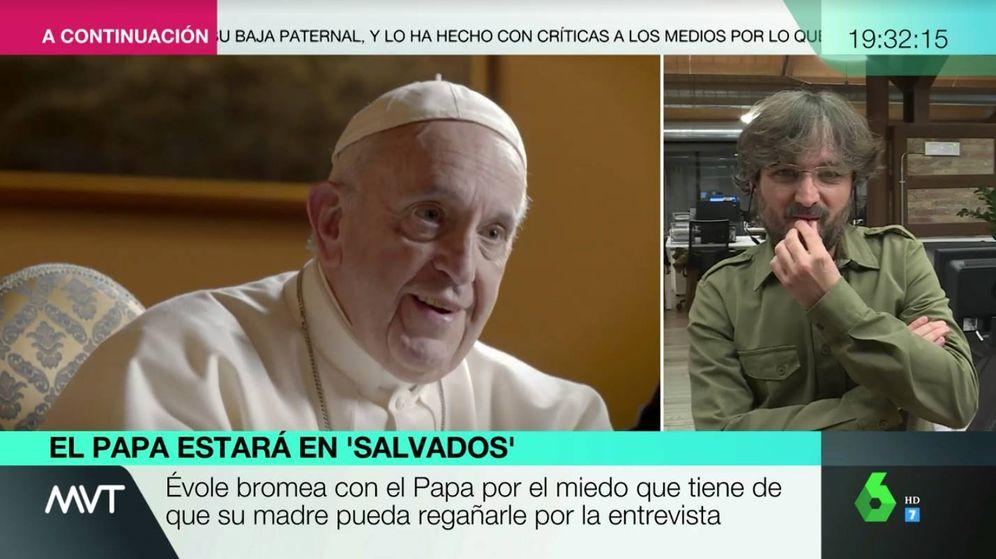 Foto: Jordi Évole, en conexión con 'Más vale tarde'. (Atresmedia)