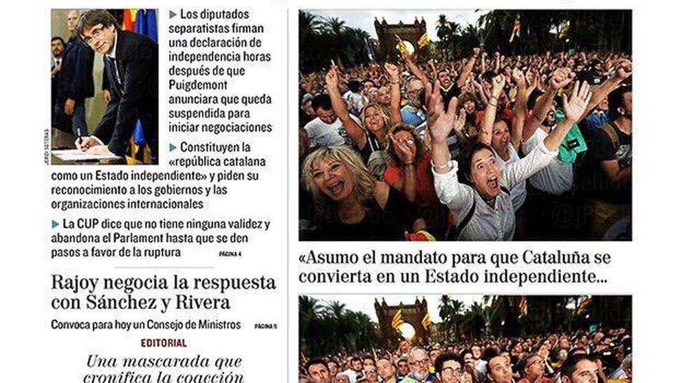 Farsa, chantaje... Puigdemont, protagonista de la prensa nacional e internacional