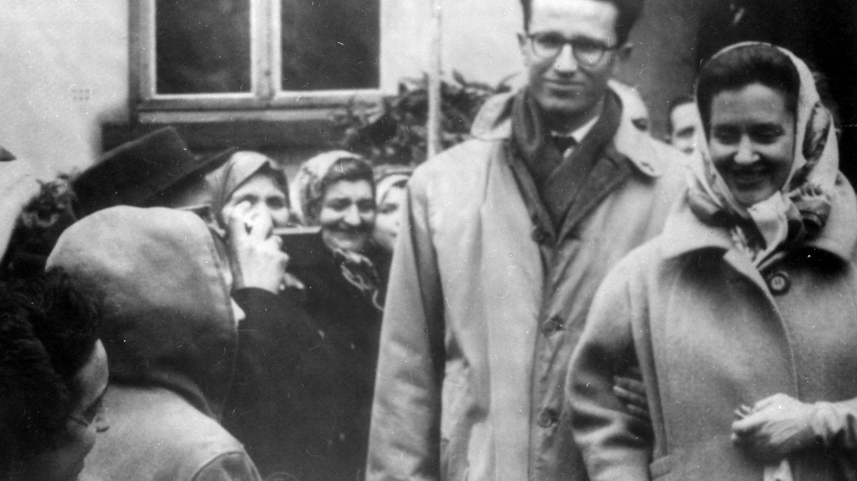 Balduino y Fabiola de Bélgica, en 1961. (Cordon Press)