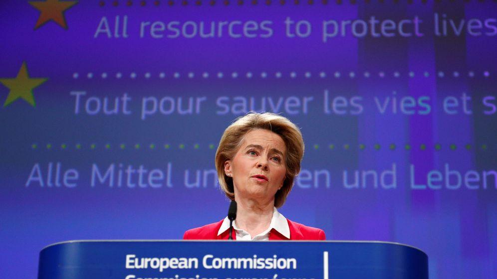 Foto: Ursula von der Leyen, en una rueda de prensa en Bruselas. (Reuters)