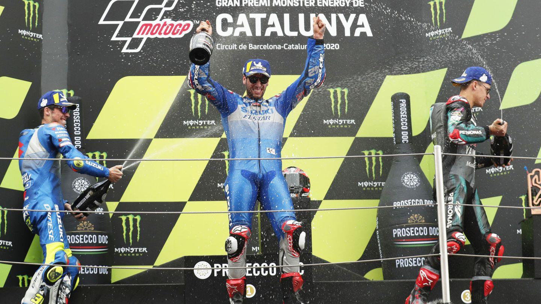 Podio de la carrera. (Reuters)