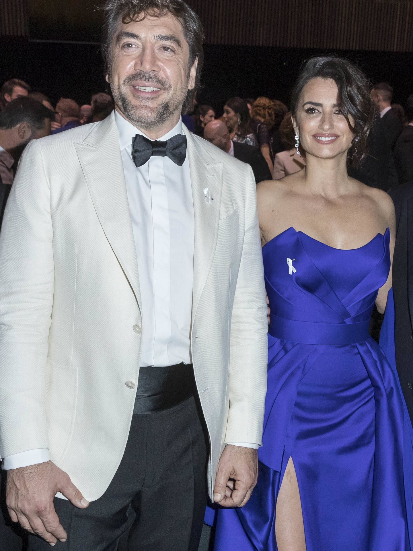 Penélope Cruz y Javier Bardem, en la ceremonia de los Premios César. (Gtres)