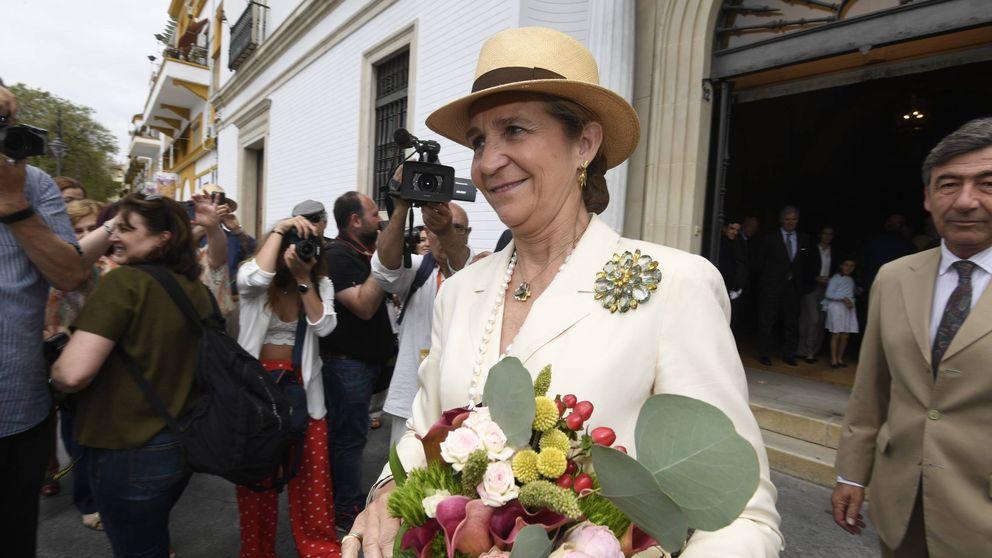 La infanta Elena y Marichalar, juntos pero no revueltos en la Feria de Sevilla