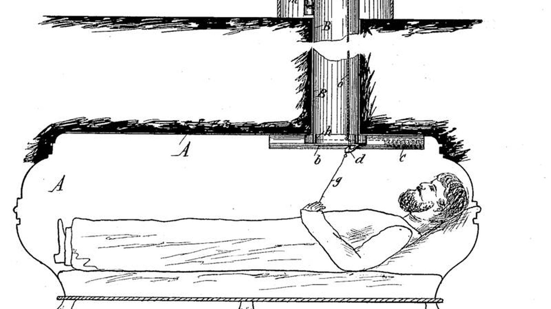Imagen de la patente del ataúd de Bedl