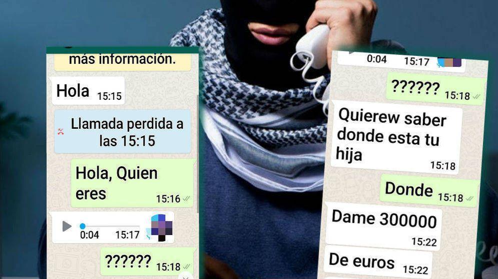 Foto: Montaje con los pantallazos de la conversación por WhatsApp.