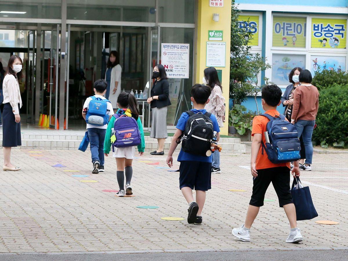 Foto: Una escuela en Corea del Sur. (EFE)