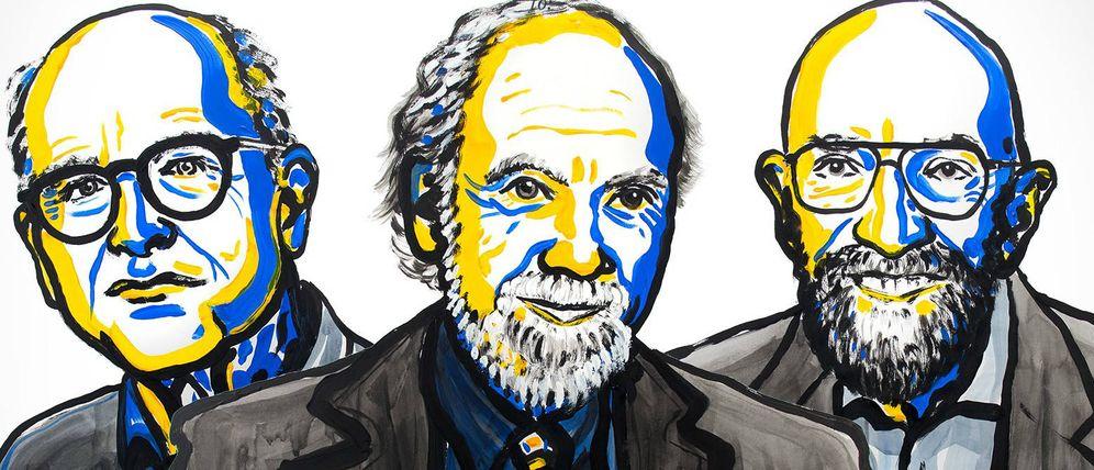 Foto:  Los tres ganadores del Nobel de Física 2017