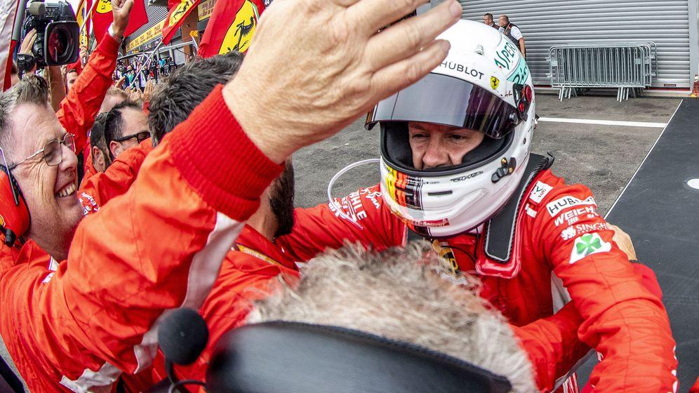 Foto: Sebastian Vettel, tras su victoria en el Gp de Bélgica. (REUTERS)