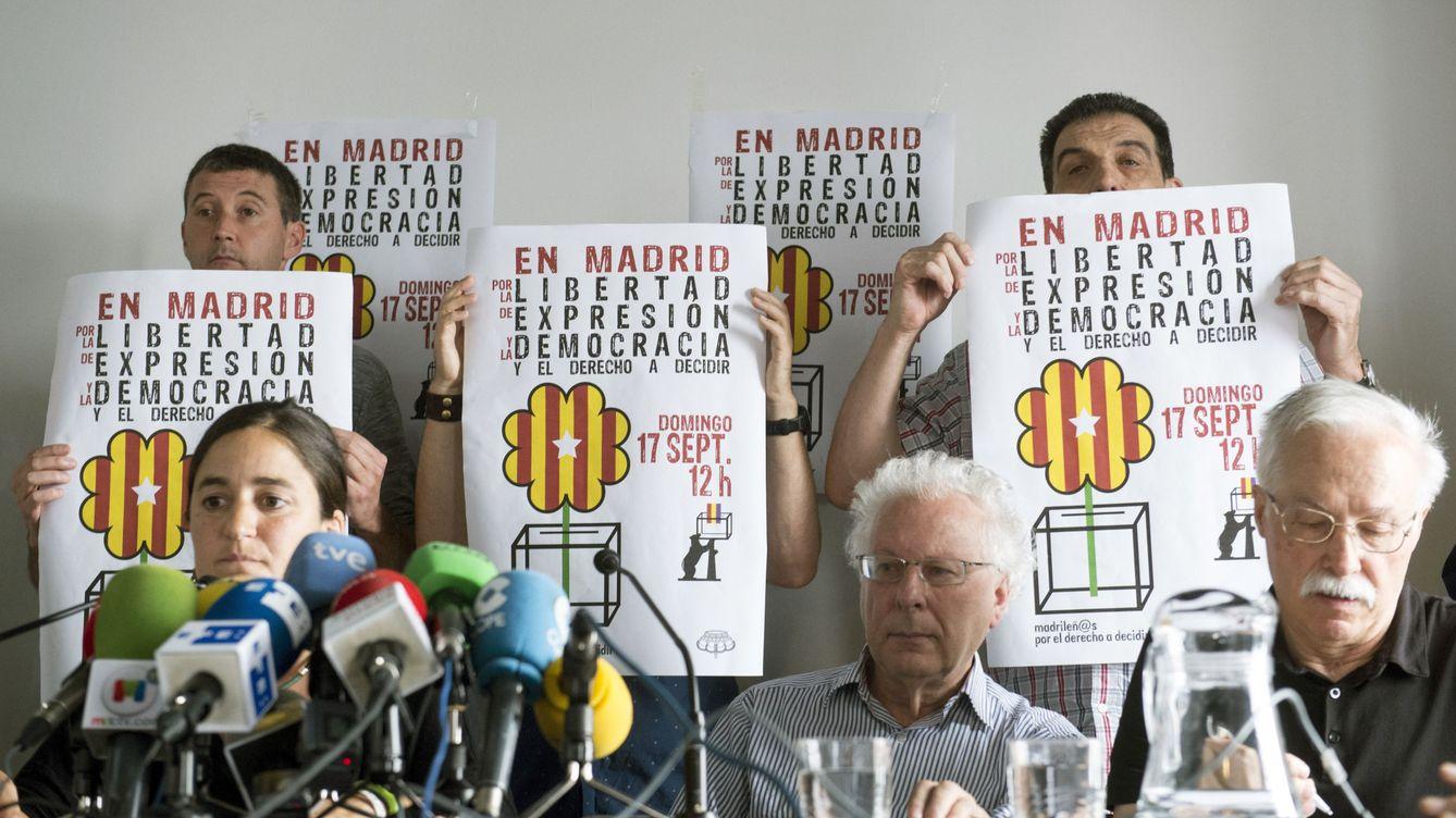 El acto pro referéndum de Madrid se celebra en el mismo teatro que apoyó a los titiriteros