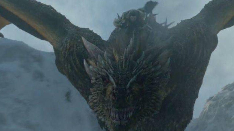 Jon Snow a lomos de un dragón. (HBO)