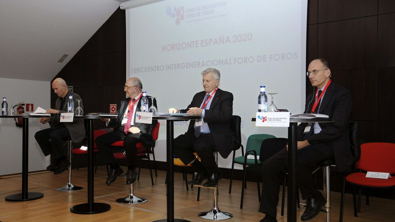 Europa, ¿problema o solución? Trichet, Almunia y Letta 'se mojan'