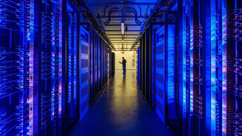 Foto: Centro de datos con ordenadores de alto rendimiento.