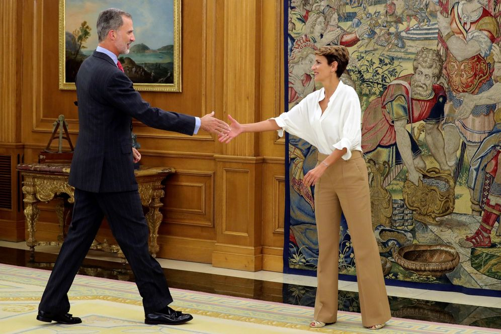 Foto: Felipe VI recibe a María Chivite en el Palacio de la Zarzuela el pasado 10 de septiembre. (EFE)