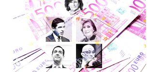 Post de Los banqueros top congelan su sueldo pero se suben las pensiones hasta 141M