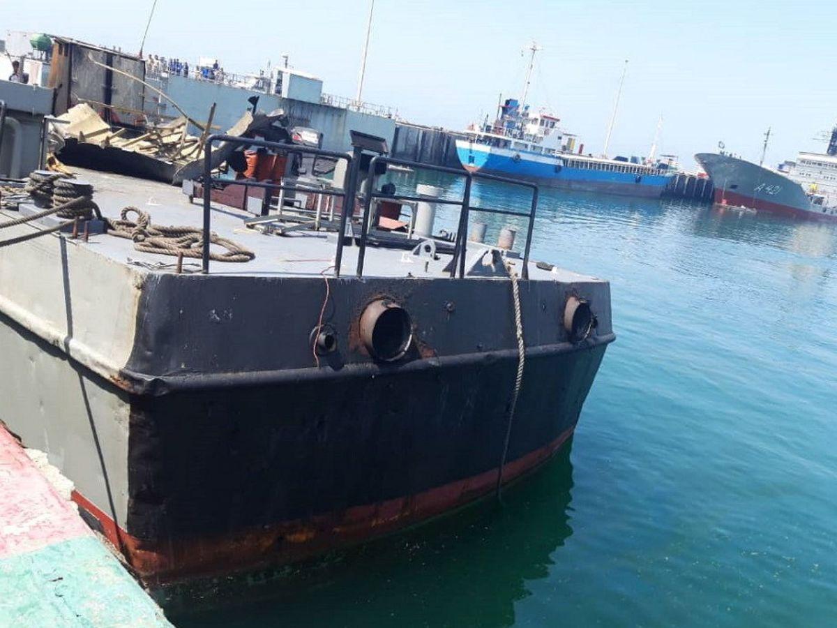 Foto: Imágenes ofrecidas por el Ejército iraní del barco afectado. (EFE)