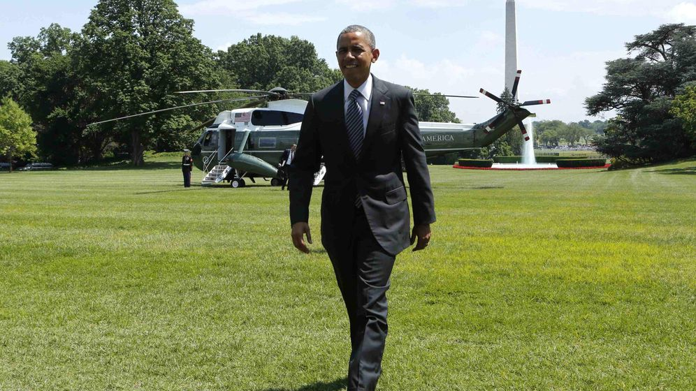 Foto: El presidente de EEUU, Barack Obama, llega a la Casa Blanca, en Washington, tras una visita a Mineapolis. (Reuters)